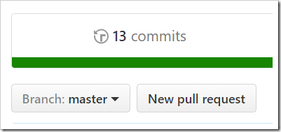 master branch showing 13 commits
