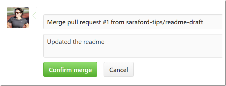 Merging a pull request form