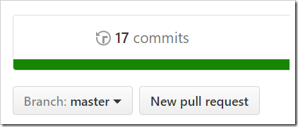 master now showing 17 commits