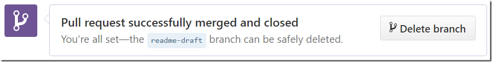 Pull request successfully merged and closed - the readme-draft branch can be safely deleted