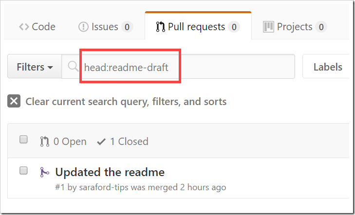 searching pull requests for head:readme-draft