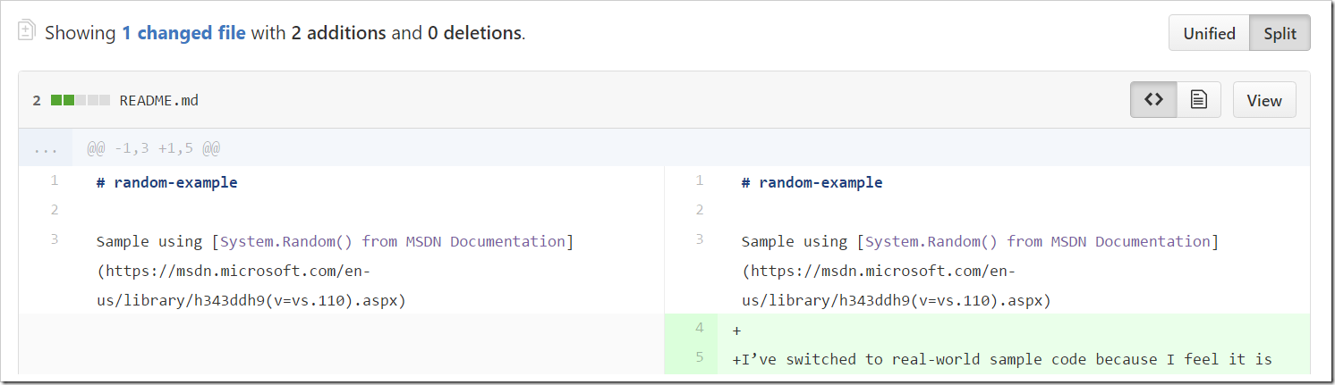 viewing latest diff of readme as source
