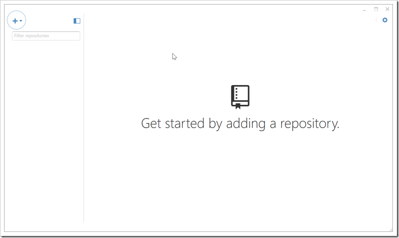 GitHub Desktop - Get started screen