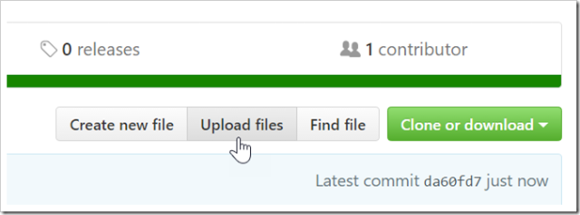 upload files button on repo page