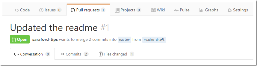 Updated the readme pull request created