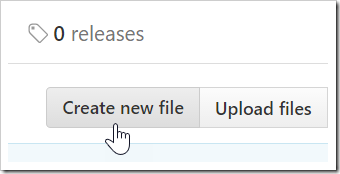 Create new file button