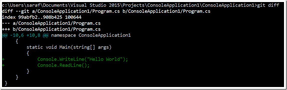 How to make quick edits in the diff view in Visual Studio