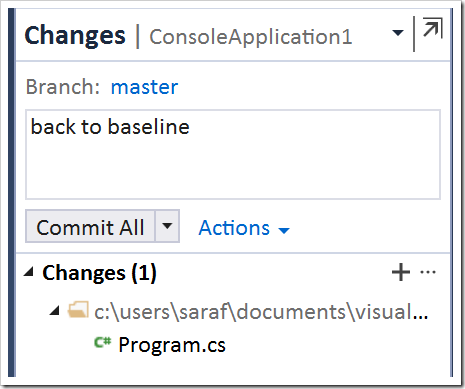 back to baseline commit in TE