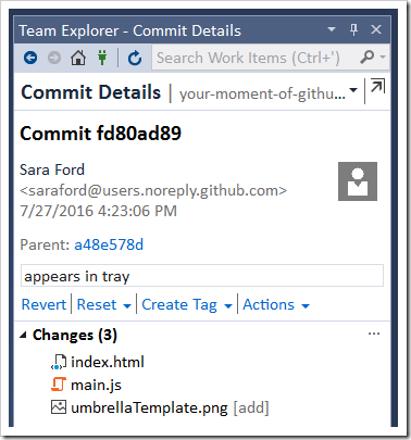 Commit details for the last commit that modified line 3