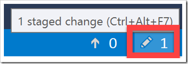 pen or pencil icon button for Changes pane