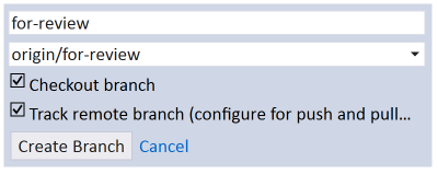 How to create a local copy of a remote branch in Visual