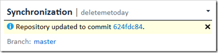 Repository updated to commit ID