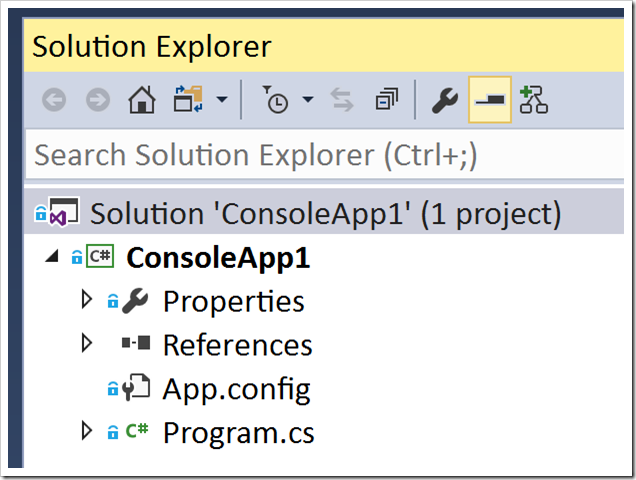 good old Solution Explorer