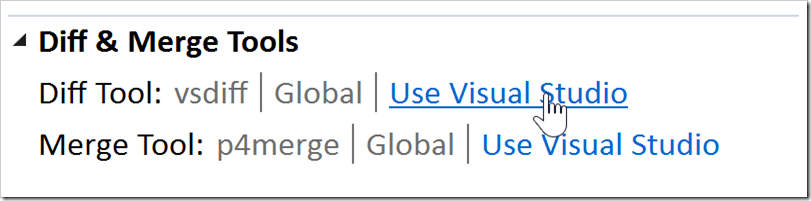 Diff Tool: Use Visual Studio