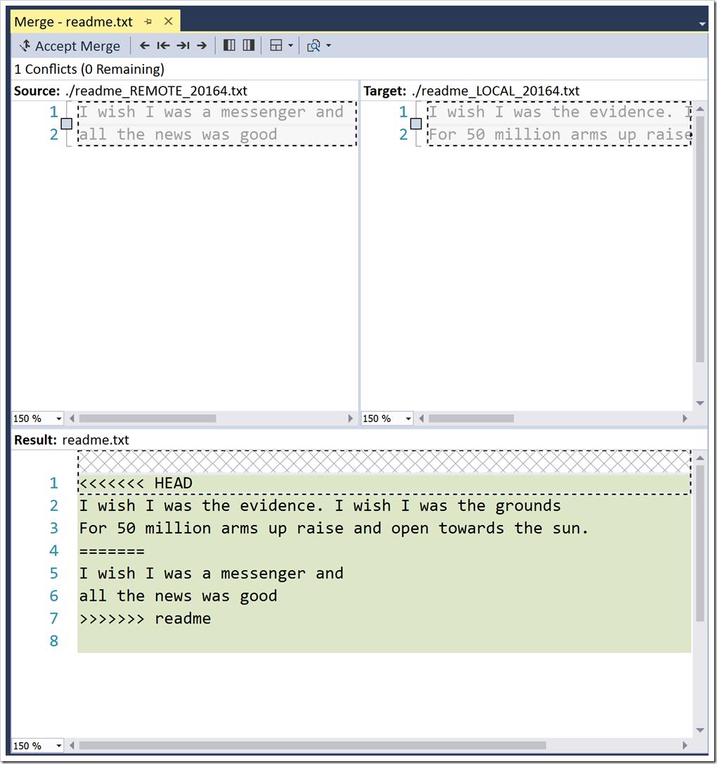 VS merge tool