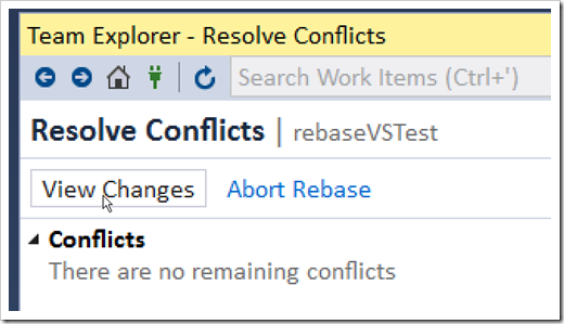resolve conflicts - view changes