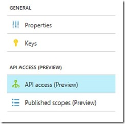 General - API access - API access Link