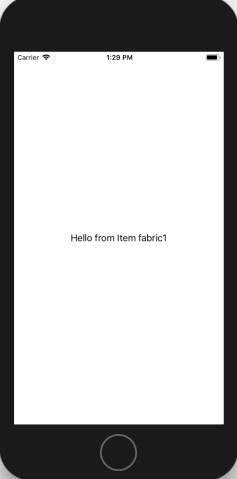 displaying Fabric1 when tapped in its own page