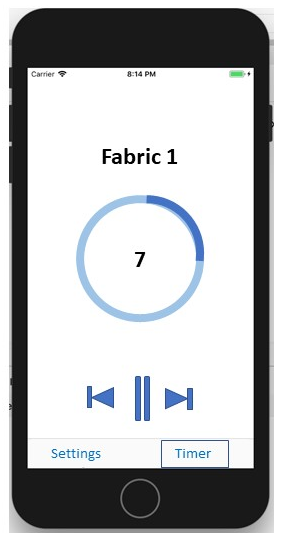 Mockup showing current Fabric timer progress